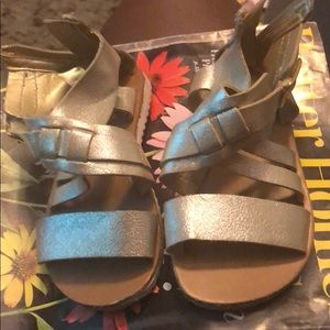 Other - Light gold metallic strappy  sandals